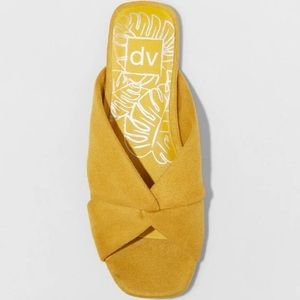 Dolce Vita Yellow Suede Sandals Flats Shoes 6.5